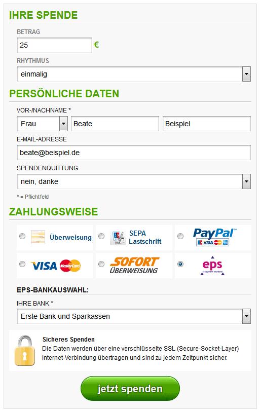 Eps Online überweisung