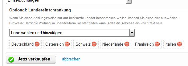 FundraisingBox_Lastschrift_Laenderbeschraenkung