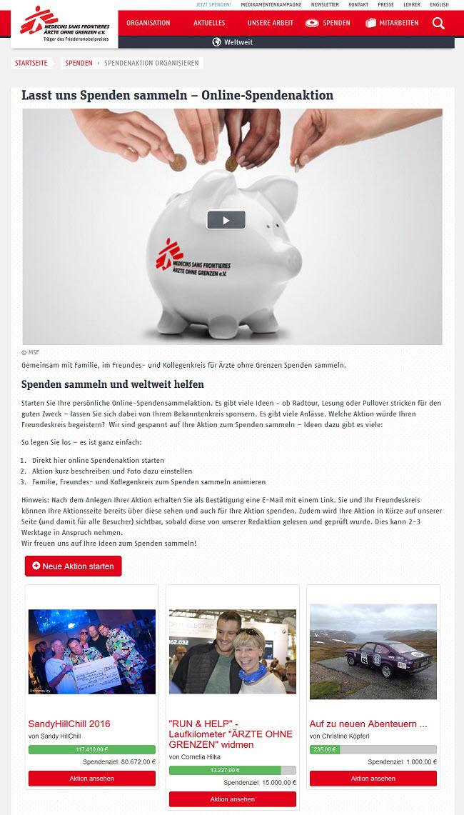 """Spendenaktionen """"Aktion Deutschland hilft"""""""