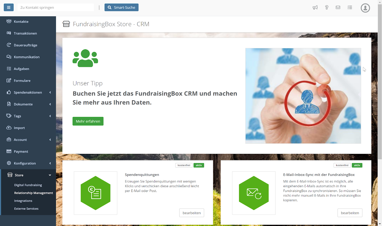 Relationship Management fuer Non Profits von FundraisingBox