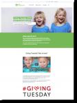 Screenshot der Giving Tuesday Kampagnen Website von SOS Kinderdorf