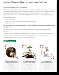 Spendenshop Weihnachtsedition Borneo Orangutan Survival FundraisingBox Wikando