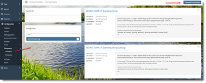 Screenshot FundraisingBox Spendenquittung Template anlegen