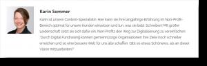 Screenshot Autorenbeschreibung Karin Sommer