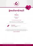 Spendenurkunde Stiftung AKM Spendenshop FundraisingBox