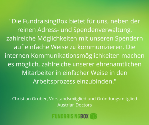 Zitat von Austrian Doctors zu CRM für Non Profit